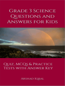 Grade 3 Science Questions and Answers for Kids: Quiz, MCQs & Practice Tests with Answer Key (3rd Grade Science Quick Study Guide & Course Review)