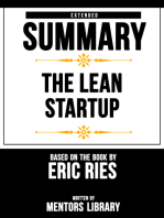 The Lean Startup: Extended Summary Based On The Book By Eric Ries