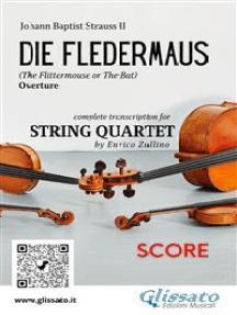 Die Fledermaus (overture) string quartet score: The Bat