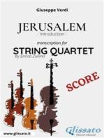 Jerusalem (introduction) String Quartet - Score