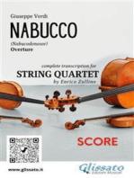 Nabucco (overture) String Quartet - Score: Nabucodonosor