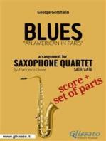 Blues - Saxophone Quartet score & parts