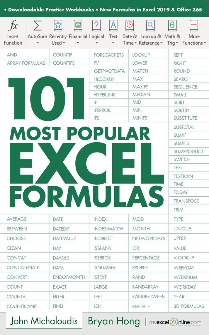 Read 20 Most Popular Excel Formulas Online by John Michaloudis and Bryan  Hong   Books