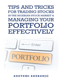 Tips and Tricks for Trading Stocks in the Nigerian Stock Market & Managing Your Portfolio Effectively