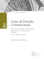 Curso de Derecho Constitucional. Tomo I: Bases conceptuales y doctrinas del derecho constitucional