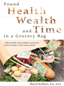 Found: Health, Wealth and Time in a Grocery Bag