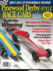 Pinewood Derby-Style Race Cars