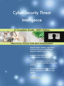 Cyber Security Threat Intelligence A Complete Guide - 2021 Edition
