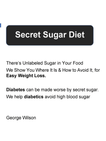 Secret Sugar Diet: There's Unlabeled Sugar In Your Diet