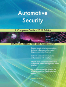 Automotive Security A Complete Guide - 2021 Edition