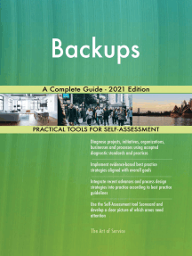 Backups A Complete Guide - 2021 Edition
