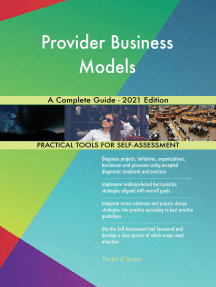 Provider Business Models A Complete Guide - 2021 Edition