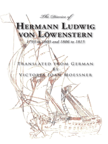 The Diaries of Hermann Ludwig von Lowenstern: 1793 to 1803 and 1806 to 1815
