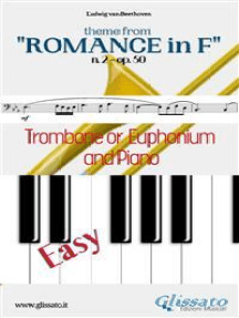 "Theme from ""Romance in F"" Easy Trombone/Euphonium & Piano: n. 2 - op. 50"