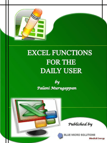 Excel Functions for the Daily User
