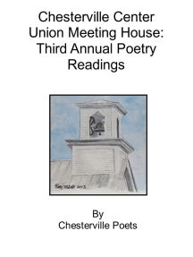 Chesterville Center Union Meeting House: Third Annual Poetry Readings