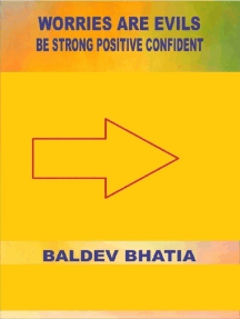 Worries Are Evils - Be Strong Positive Confident