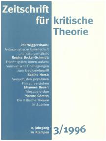 Zeitschrift für kritische Theorie / Zeitschrift für kritische Theorie, Heft 3: 2. Jahrgang (1996)