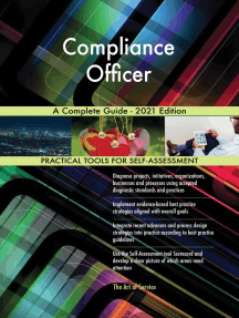 Compliance Officer A Complete Guide - 2021 Edition