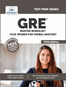 GRE Master Wordlist: 1535 Words For Verbal Mastery( Fifth Edition)