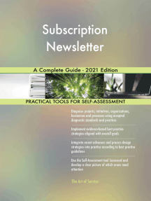 Subscription Newsletter A Complete Guide - 2021 Edition