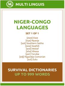 Niger-Congo Languages Survival Dictionaries (Set 1 of 1)