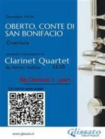 Oberto,Conte di San Bonifacio - Clarinet Quartet - Parts