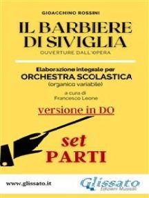 Il Barbiere di Siviglia (in Do) - elaborazione facilitata SMIM/LICEO - Set parti: Ouverture