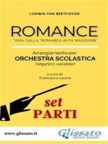 """Romance - Orchestra scolastica (set parti): tema dalla """"Romanza in Fa Maggiore"""""""