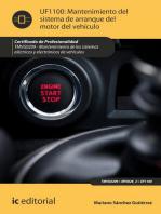Mantenimiento del sistema de arranque del motor del vehículo. TMVG0209