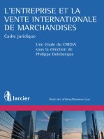 L'entreprise et la vente internationale de marchandises