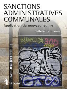 Sanctions administratives communales: Application du nouveau régime