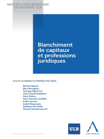 Blanchiment de capitaux et professions juridiques: Droit belge