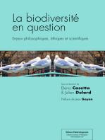 La biodiversité en question: Enjeux philosophiques, éthiques et scientifiques