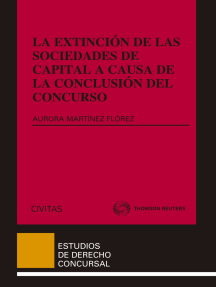 La extinción de las sociedades de capital a causa de la conclusión del concurso