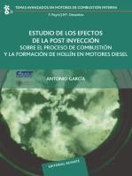 Estudio de los efectos de post inyeccion sobre procesos