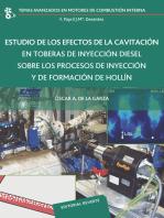 Estudio de los efectos de la cavitación en toberas de inyección diesel