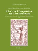 Bilanz und Perspektiven der Harz-Forschung