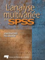 L' Analyse multivariée avec SPSS