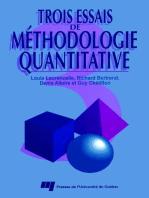 Trois essais de méthodologie quantitative