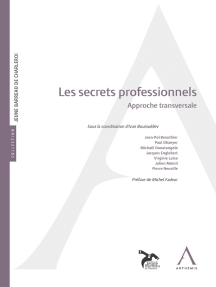 Les secrets professionnels: Approche transversale