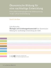 Ökonomische Bildung für eine nachhaltige Entwicklung: Eine phänomenographische Untersuchung in der Lehrerinnenbildung