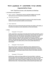 Argumentative essay technology