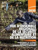 Vue d'ensemble régionale de la sécurité alimentaire et de la nutrition en Afrique 2020