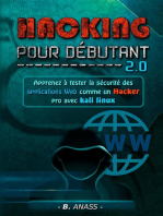 Web hacking: apprenez à tester la sécurité des applications web comme un hacker pro avec kali linux: Hacking