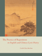 The Poetics of Repetition in English and Chinese Lyric Poetry