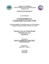 Nursing Case Study Paranaoid Schizophrenia - SlideShare