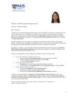 Candidate for President - MBA Knowledge Management Club - Sindhura Sunkara