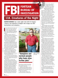 Creatures of the Night - Gregory Reece Interview with the Fortean Times